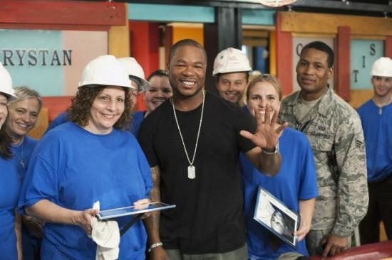 Xzibit helping out at filming of ABC's Extreme Home Makeover