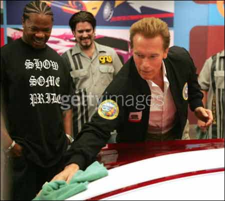 Xzibit and Governer Arnold Schwarzenegger on Pimp My Ride