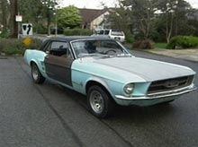 Mary's Mustang before pimping