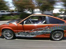Brian's Honda CRX after pimping
