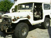 Gaby's Land Cruiser before pimping