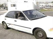 Christine's Civic before pimping