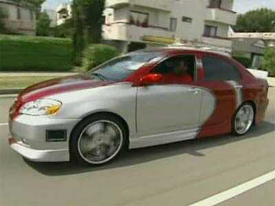 Josh's Toyota Corolla after pimping