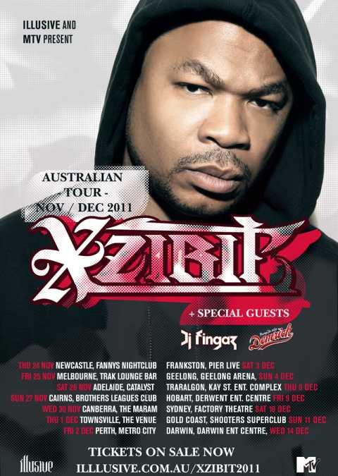Xzibit Australia Tour 2011 Poster
