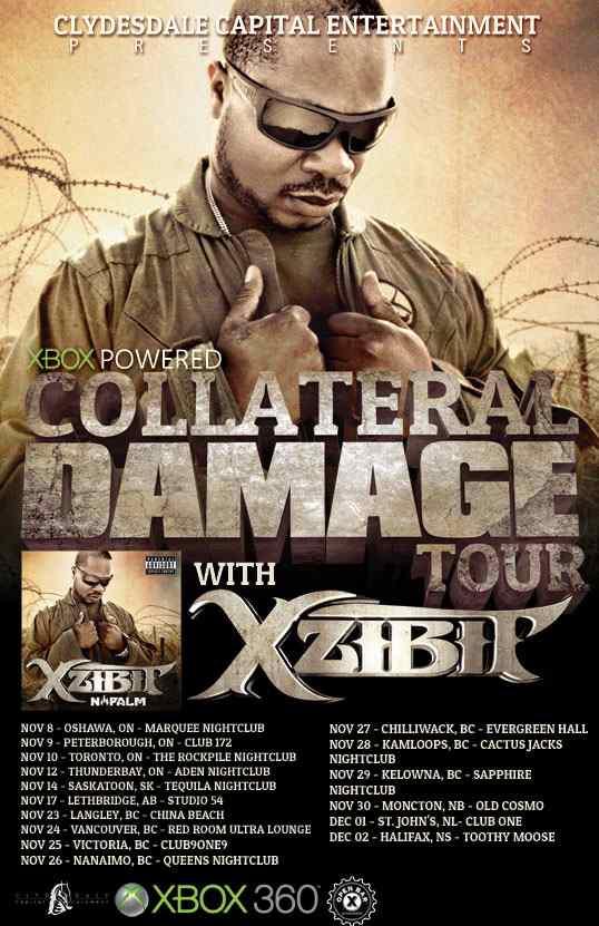 xzibit canada napalm tour 2012 16 collateral damage shows live