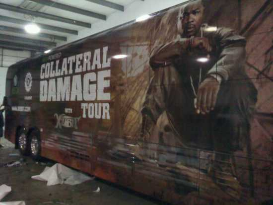 Xzibit Collateral Damage Napalm Tour Bus 2