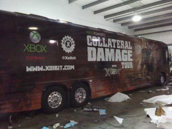 Xzibit Collateral Damage Napalm Tour Bus