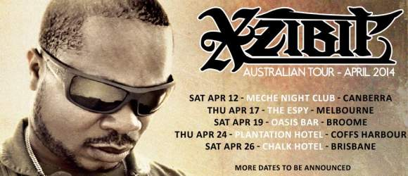 Xzibit Australian shows flyer 2014