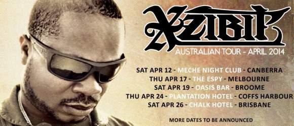 Xzibit Australian shows flyer 2014