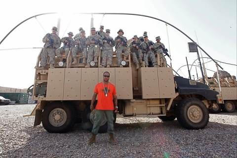 Xzibit and US troops in Iraq
