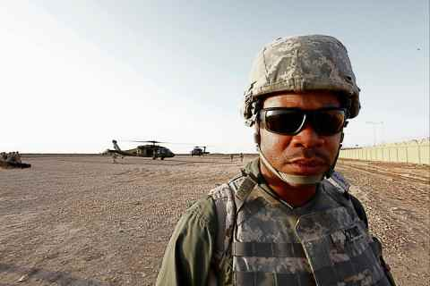 Xzibit in Iraq visiting the US troops