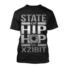 Xzibit Metallic State of Hip hop Black T shirt