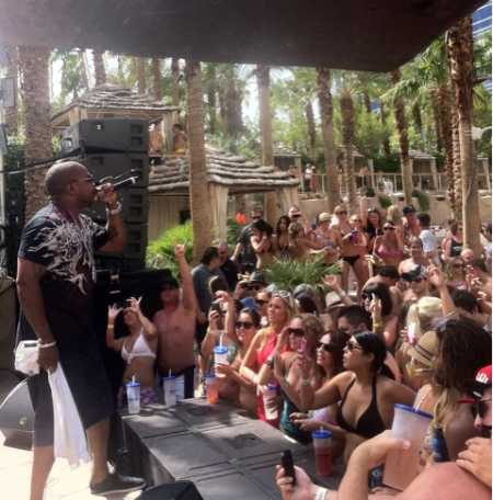 Xzibit performing at Hard Rock Pool Party