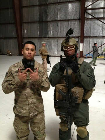 Xzibit & Rick Perez on the set of: Code Name Geronimo