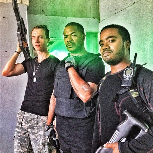 Xzibit on the set of Halo 4 promo video for xbox