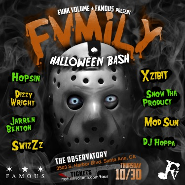 FVMILY Halloween Bash featuring Xzibit, Jon Connor, Hopsin & more in Santa Ana, CA (Thur, October 30)