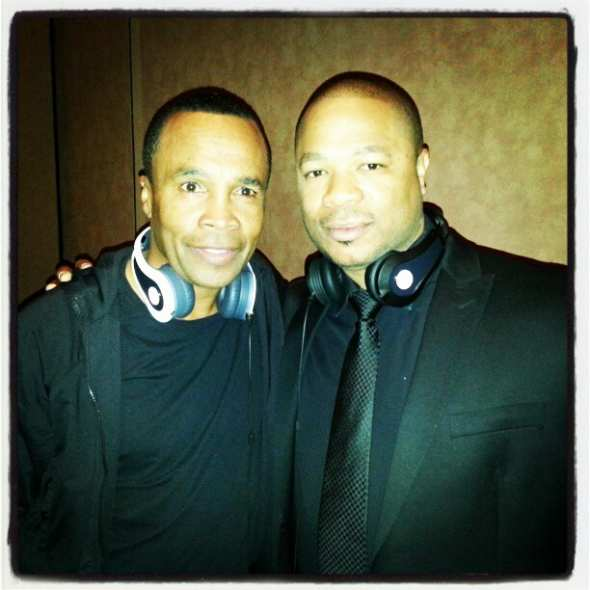 Xzibit with Sugar Ray Leonard at CES 2013